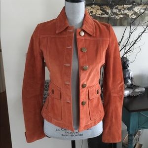 Danier Burnt Orange Leather Jacket